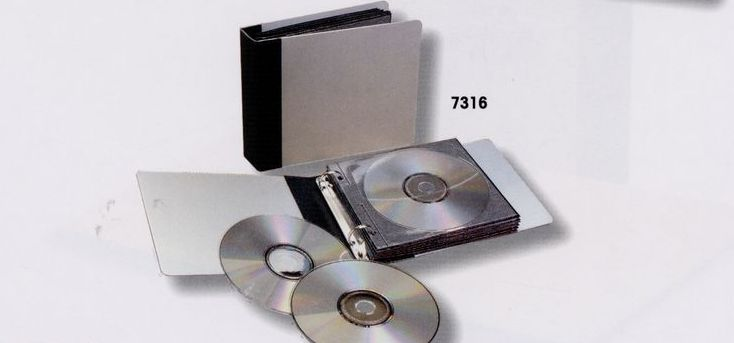 Aluminum Leather CD/DVD Disc Binders