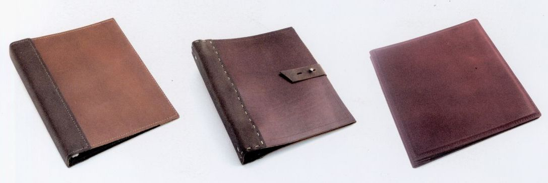 Rustic Stitched Leather Binder Letter Size
