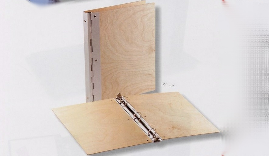 Wood with Metal Hinge Binder Letter Size
